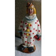 Best Ever! HUGE! Vintage Chalkware CIRCUS CLOWN Bank