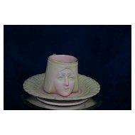 Vintage Egyptian Revival SCHAFER and VATER Figural Cup &  Saucer