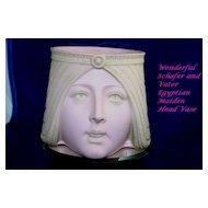 Stunning!  ART NOUVEAU Schafer and Vater Maiden Head Vase