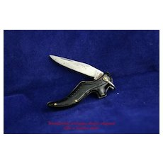 Adorable Antique Figural Ladies Shoe Pocket Knife by Merrimac Germany