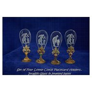 Czechoslovakian Jeweled Intaglio Place Card Holders Set of 4