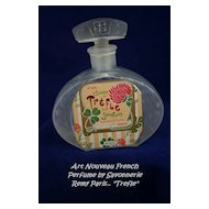 Rare French ART NOUVEAU Perfume Bottle - Remy Savonnerie Paris