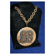 Vintage REBAJE Coils Copper Pendant Necklace