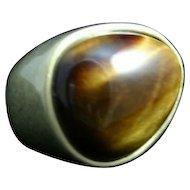 Modernist Tiger Eye Ring.. A real statement piece!