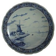 Magnificent Delft Windmill Charger Artist Chattel