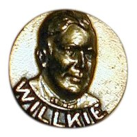 Original 1940 WIN WITH WILLKIE Campaign Lapel Pin on Card