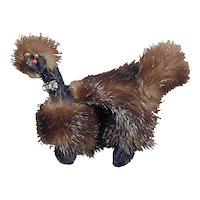 Vintage 1950s Big Genuine Mink Fur POODLE Pin Brooch