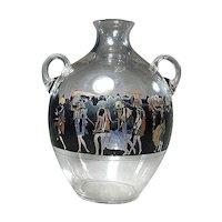 1920s Art Deco Nymphs VEDAR Vetri d'Arte Art Glass Jug Vase