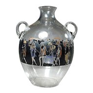 1920s Art Deco Nymphs VEDAR Vetri d'Arte Art Glass Jug Vase