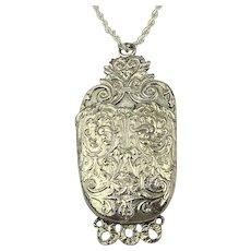 Pauline Rader Oversized Etruscan Pocket Pouch Necklace Pendant