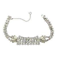 Vintage Clear Crystal Rhinestone Bracelet - Ultra Sparkle