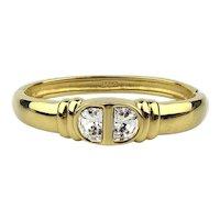 Vintage Swarovski S.A.L. Gorgeous Goldtone Crystal Bracelet Hinged