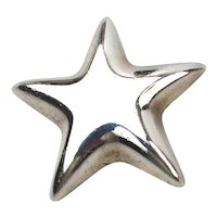 Vintage Tiffany & Co. Mexico Sterling Silver Star Pin Brooch
