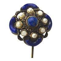 Vintage W. Germany Fancy Jeweled Stickpin Stick Pin