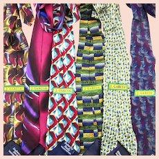 Six Vintage Colorful Silk Print JERRY GARCIA Neck Ties