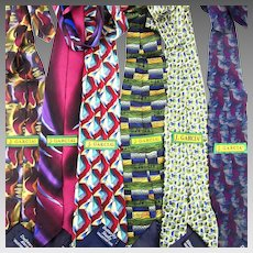 Six Vintage Colorful Silk Print JERRY GARCIA Neck Ties