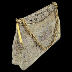 Vintage Paris France Cut Steel Beaded Handbag Purse French