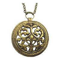 Kalevala Koru Finland Bronze 1970s Pendant Necklace