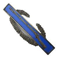 Original WWII Sterling Silver Rifle Pin Badge Combat Infantryman Army Award