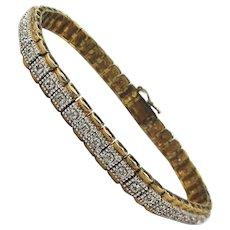 Vintage Gold over Sterling Silver Bracelet w/ .5 ct. Diamonds
