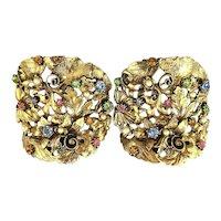 Big Vintage MUSI Rhinestone Shoe Clips Necklace - Head to Toe