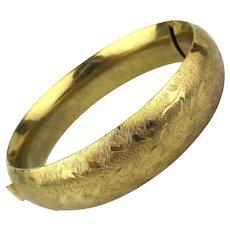 Vintage Really NOT Gold Goldtone Hinge Bracelet