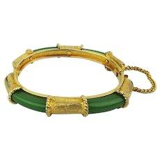 Vintage Bakelite Encased in Goldtone Hinge Bracelet