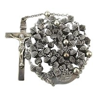 Vintage Sterling Silver CATAMORE Catholic Rosary