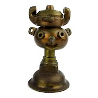 Vintage Signed Folk Art Nuts n Bolts Sculpture Paperweight