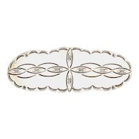 Big Navajo Sterling Silver A. BEGAY French Hair Clip Etched