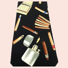Vintage Signed Handmade Neck Tie Cigar Smoking Lighter