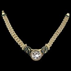 Awesome HR PARIS Helena Rubinstein Mega Necklace Crystal