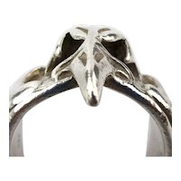 Mens Large Sterling Silver EAGLE Bird Head Ring