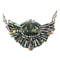 Designer Signed RUSH Crystal Rhinestone Necklace