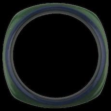 Bakelite Bangle Bracelet Blue / Green