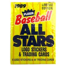 1989 Fleer Baseball All Stars Logo Stickers & Trading Cards Limited Edition