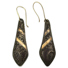 Vintage Sterling Silver Bali Dangle Earrings Pierced
