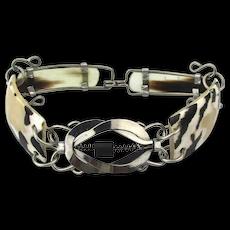 Vintage Handmade CUBA Bracelet - Shell n Metal