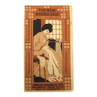 Victorian Needle Case Paper Folder w/ Needles Mills