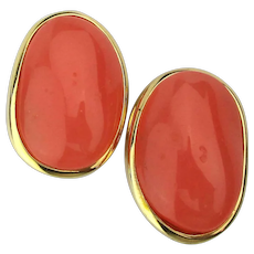 Givenchy Peachy Keen Lucite Clip Earrings
