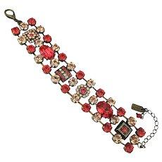 Vintage Van Galz Swarovski Crystal Rhinestone Bracelet