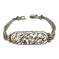 Vintage Sterling Silver Bracelet w/ Ornate Work