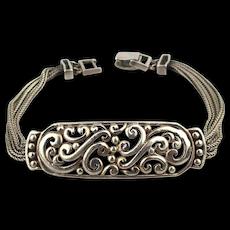 Vintage Sterling Silver Bracelet w/ Ornate Work