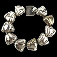 Hefty Taxco Sterling Silver Link Bracelet