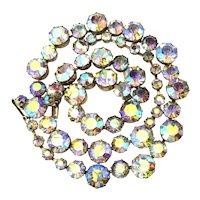 WEISS Aurora Borealis Crystal Rhinestone Set Necklace Bracelet Brilliant