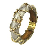 Cadoro Multi Metal Clamper Hinge Bracelet