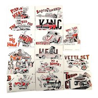 1972 Exhibit Cards Big Daddy Ed Roth WEIRDO Car Trading Cards Set