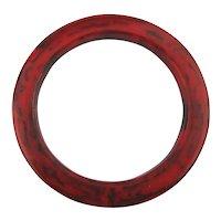 Old Swirling Red n Black Bakelite Bangle Bracelet