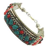 Tibetan Genuine Turquoise Coral Bracelet