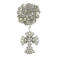 Lavish Maria Elena Wedding Lazo Rosary Big Swarovski Crystals